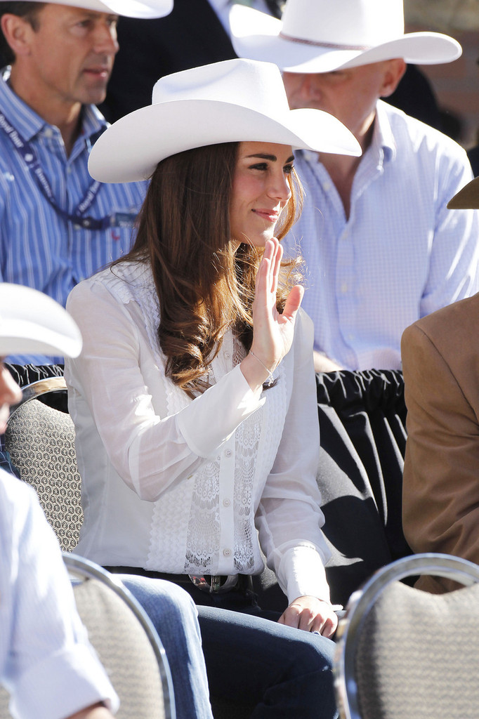 Kate Middleton In The Duke And Duchess Of Cambridge Attend