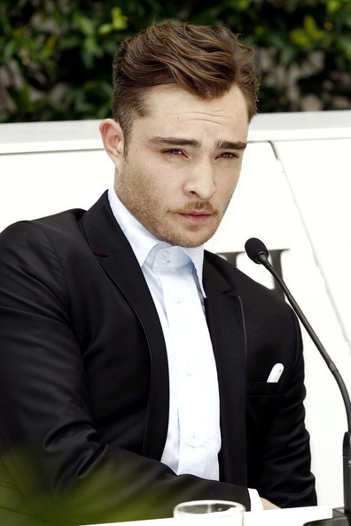 Ed Westwick at Men s Milan Ed Westwick