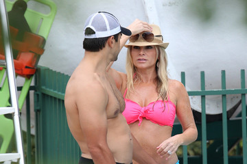 Eddie Judge Tamra Barney and Family Relax at the Beach