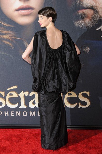 Anne Hathaway attending the premiere of 'Les Miserables' held at the Ziegfeld Theatre in New York City.