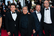 Christian Clavier, Pierre-Francois Martin-Laval and Kev Adams attend the 'Nebraska' premiere during The 66th Annual Cannes Film Festival at the Palais des Festivals.