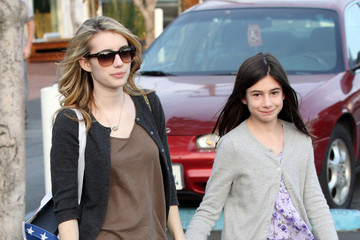 Grace Roberts Emma Roberts at Fred Segal with Her Sister