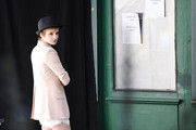 Emma Watson continues shooting an ad for Lancome in Paris, with famed fashion photographer Mario Testino on set. The young star is currently taking a break from Brown University. She was named the new face of Lancome recently, and is currently promoting the final 'Harry Potter' installment.