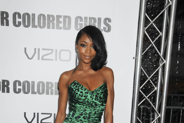 YaYa DeCosta Celebrities Attend the 'For Colored Girls' Premiere in New York