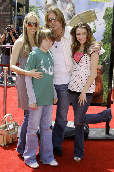 Miley Cyrus FILE PHOTO dated Sunday April 30 2006. Billy Ray Cyrus and wife Leticia Cyrus have reportedly filed for divorce after 17 years of marriage. **ORIGINAL CAPTION** Billy Ray Cyrus, wife Leticia Cyrus and their daughter Destiny attend the Los Angeles Premiere of