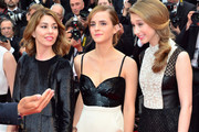 Emma Watson, director Sofia Coppola and Taissa Farmiga attending the 'Jeune & Jolie' premiere during The 66th Annual Cannes Film Festival at the Palais des Festivals in Cannes.