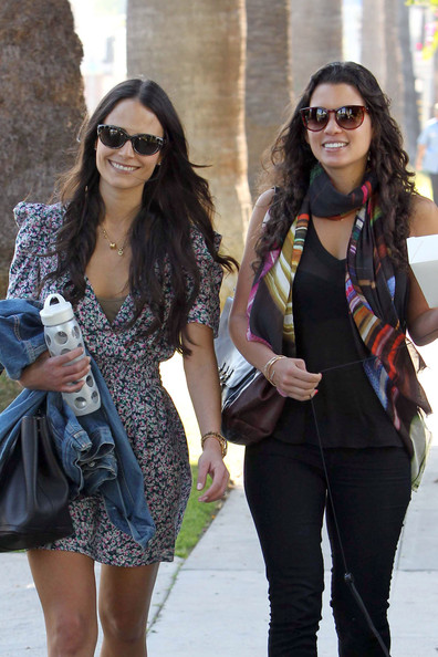 Photo of Jordana Brewster & her friend   - Los Angeles
