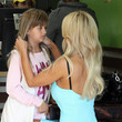 Isabella Lamas Feeling Perky? Playboy playmate Shauna Sand nips out for a pizza with daughter Isabella in Beverly Hills
