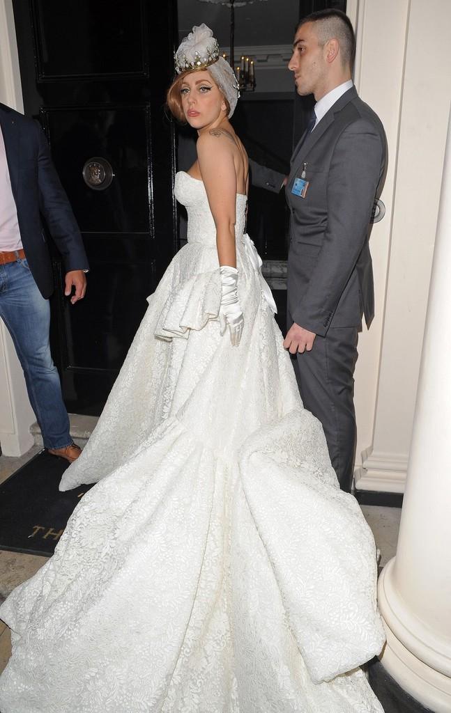 Lady gaga photos photos flamboyant pop star lady gaga for White after wedding party dress