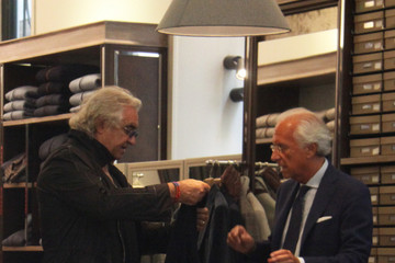 Flavio Briatore Flavio Briatore Shops with His Family
