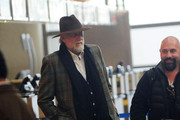 'Fleetwood Mac' drummer Mick Fleetwood makes his way through the airport at LAX in Los Angeles.