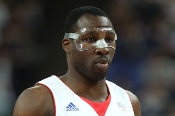 Florent Pietrus Celebs at Olympic Basketball