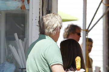 Steffanie Sampson Gary Busey at the Malibu Fair