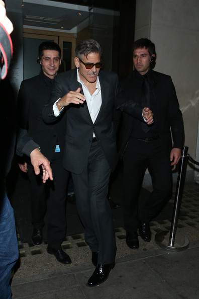 Photos: George Clooney in London May 23, 2013 George+Clooney+seen+leaving+Nobu+Berkeley+MnJUfy1bX7El