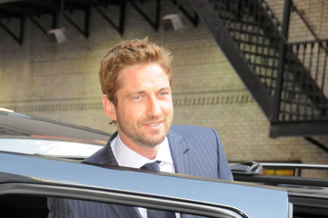 Gerald Butler Celebs Stop by 'Letterman' in NYC
