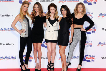 Girls Aloud Celebs at the Jingle Ball in London