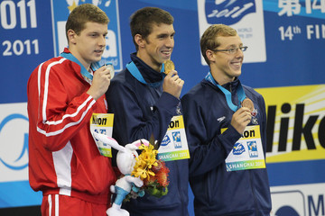 Tyler McGill Michael Phelps Competes in Shanghai