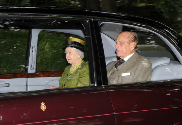 Guests arrive in their cars at the Crathie Kirk to join Prince Philip, the Duke of Edinburgh and Queen Elizabeth who are currently staying at Balmoral Castle in Aberdeen, Scotland