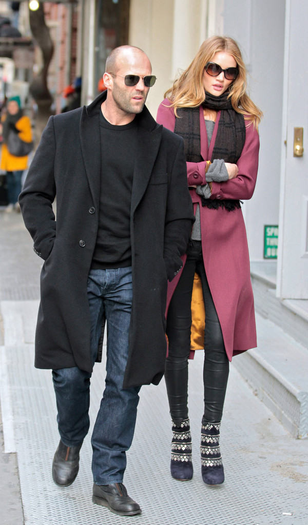 Jason Statham And Rosie Huntington Whiteley In Soho Zimbio