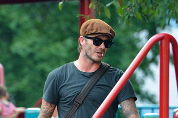 Harper Beckham David Beckham enjoys some play time at the park with daughter Harper in New York City