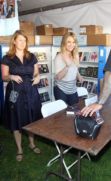 "Hilary Duff promotes her book ""Elixir"" at the ""Los Angeles Times Festival of Books"" at USC."