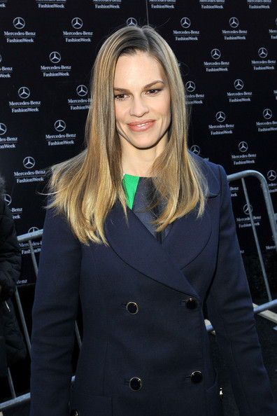 Hilary Swank at Fashion Week in NYC