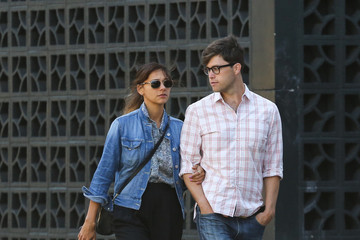 Holding Hands Rashida Jones goes hand in hand with an unidentified man as they take a walk in New York City