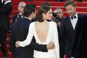 Marion Cotillard and Jeremy Renner seen attending 'The Immigrant' premiere at 66th Cannes Film Festival 2013 in Cannes, France.