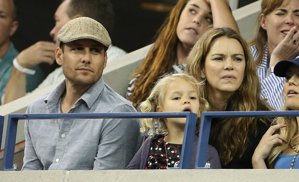 Photo of Gabriel Macht & his  Daughter  Satine Anais Geraldine Macht
