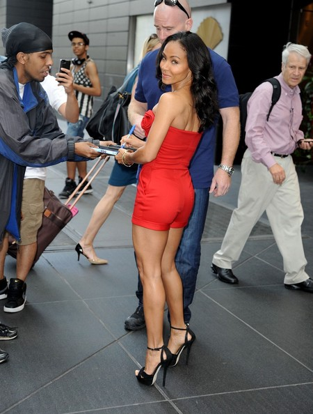 Jada Pinkett Smith - Jada Pinkett Smith in Bright Red