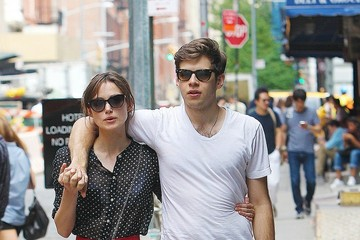 James Righton Keira Knightley and James Righton Stroll Around Soho