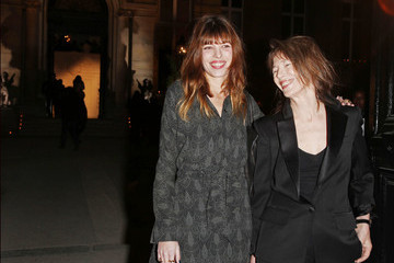 Jane Birkin Arrivals at the Yves Saint Laurent Fashion Show