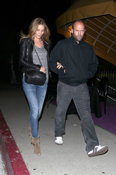 "Jason Statham and  girlfriend Rosie Huntington-Whiteley have a rockin' night out watching ""Prince"" perform in concert at ""The Forum"" in Los Angeles ."