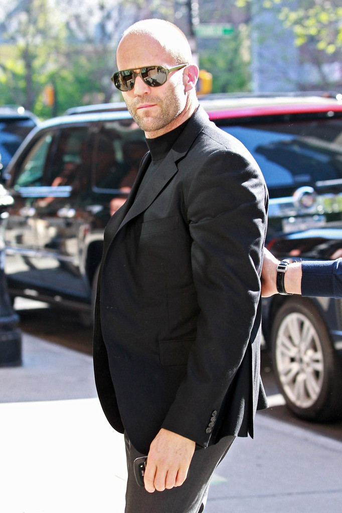 15 Year Boys Bedroom: Jason Statham Looks Tough In NYC