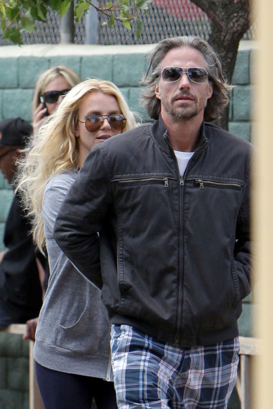 Jason Trawick and Britney Spears spend their Sunday at her son Sean Preston's little league baseball game. The couple was seen cozying up in the stands while watching Sean play ball.