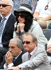 Isabelle Adjani Celebrities at the French Open