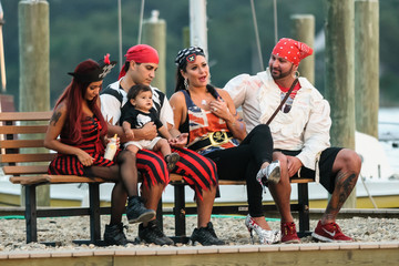 Jenni Farley Nicole Polizzi Hosts a Pirate-Themed Bash