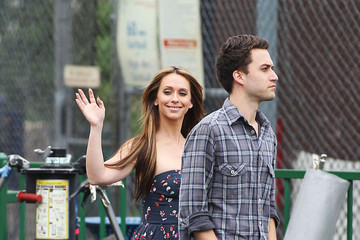 "Jennifer Love Hewitt Jennifer Love Hewitt wears a revealing dress as she grabs lunch on the set of ""The Client List"" in Los Angeles"
