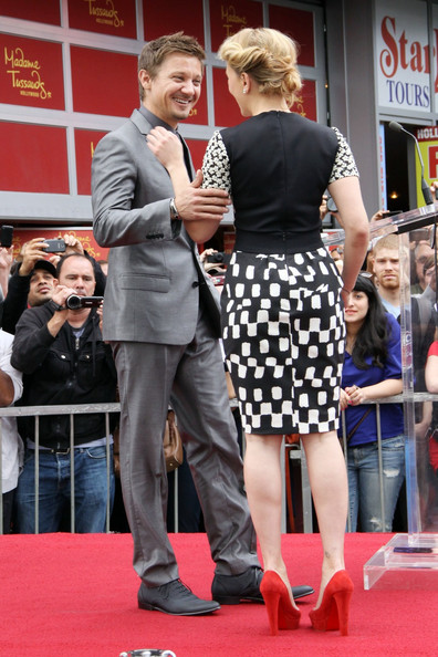 Jeremy Renner - Jeremy Renner Honors Scarlett Johansson on the Walk of ...