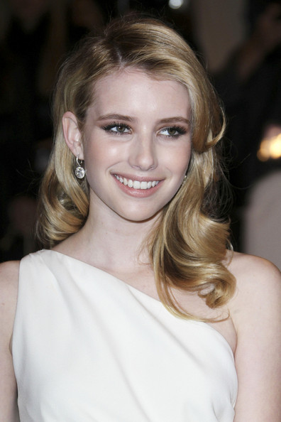 "Emma Roberts at the annual Costume Institute Gala in New York, celebrating the exhibition of ""Alexander McQueen: Savage Beauty"", held at the Metropolitan Museum Of Art on 5th Avenue."