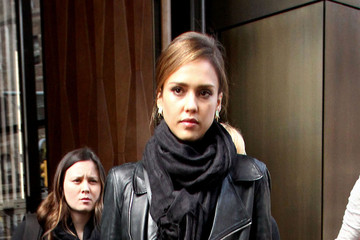 Jessica Alba Celebs Spotted Out in NYC