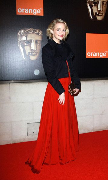 A soggy Emma Stone at London's Grosvenor House Hotel for the BAFTA's after-party.