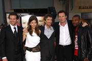 "L-R Bradley Cooper, Jessica Biel, Sharlto Copley, Liam Neeson and Quinton Jackson on the red carpet at the world premiere of ""The A-Team"" held at the Grauman's Chinese Theater, Hollywood."