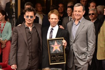 Johnny Depp Jerry Bruckheimer Jerry Bruckheimer Honored on the Walk of Fame — Part 2