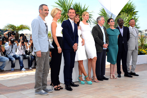 Jury of the 64th Annual Cannes Film Festival (Olivier Assayas, Linn Ullmann, Jude Law, Martina Gusman, Uma Thurman, Robert De Niro, Nansun Shi, Mahamat Saleh Haroun, Johnnie To) during a photocall in Cannes.
