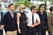 Justin Timberlake, Carey Mulligan, Garrett Hedlund, Oscar Isaac and Joel Cohen attend the photocall for 'Inside Llewyn Davis' during the 66th Annual Cannes Film Festival at Palais des Festivals in Cannes.