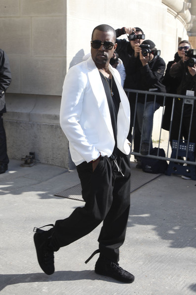 Kanye West Kanye West leaving the Chanel fashion show Ready to Wear collection at Paris Fashion Week.