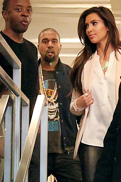 Kanye West Kim Kardashian and rumored new beau Kanye West go shopping at Jeffrey New York clothing store. The celebrity superstars are in the middle of a frenzy of dating rumors as they reportedly spent the night together and then enjoyed a very public day together today.