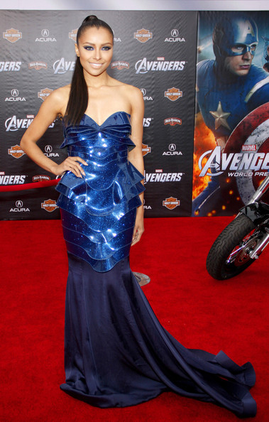 Kat Graham - Stars at the Premiere of 'The Avengers' in LA