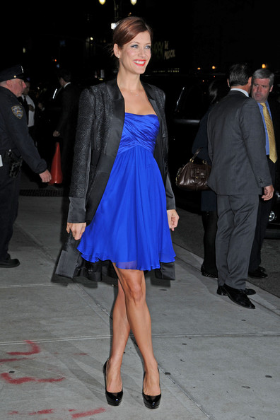 Kate Walsh Arrives at the David Letterman Show - Zimbio
